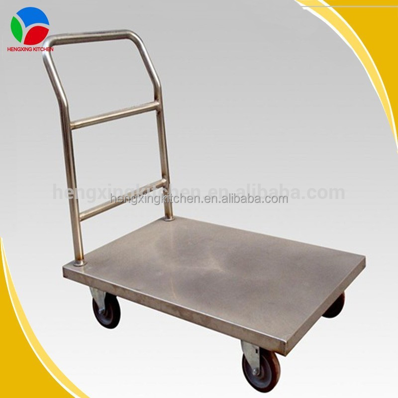 Stainless steel food trolley,foldable hand trolley,warehouse trolley