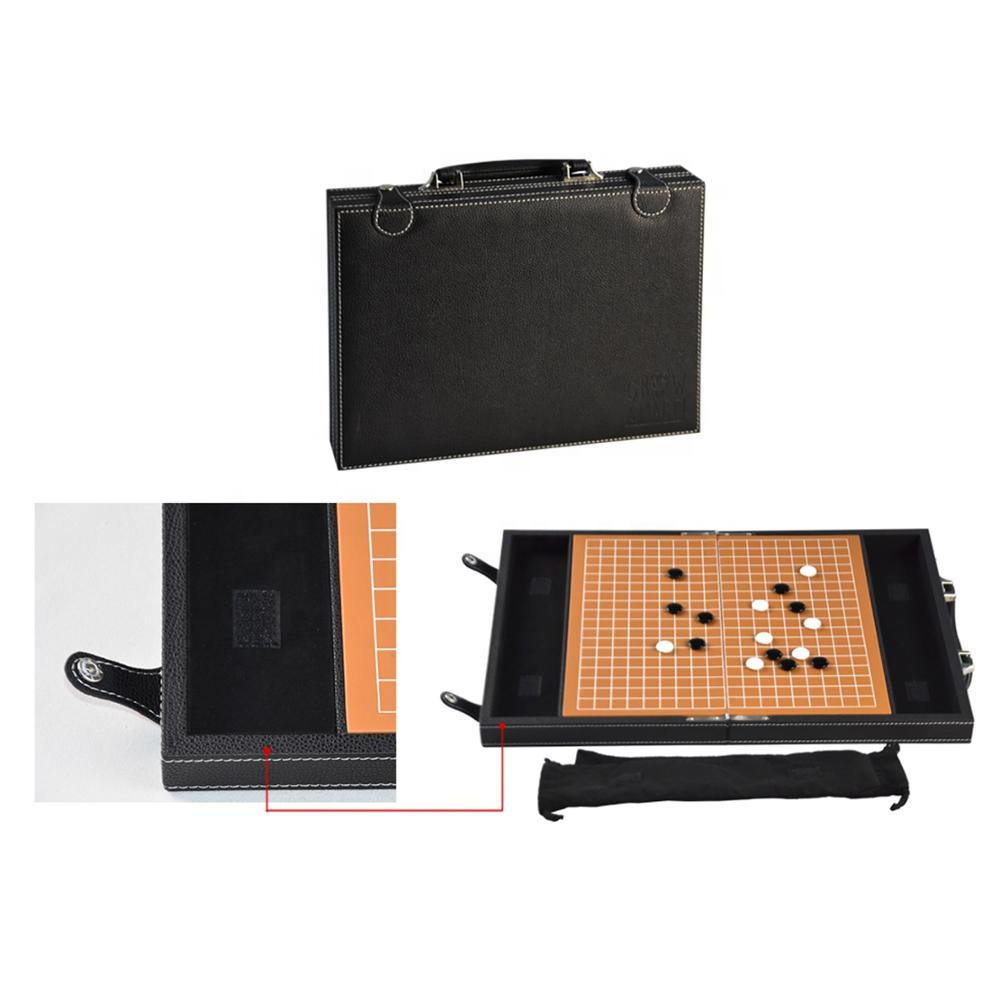 Wholesale Custom Leather Backgammon Set with Chess Pieces