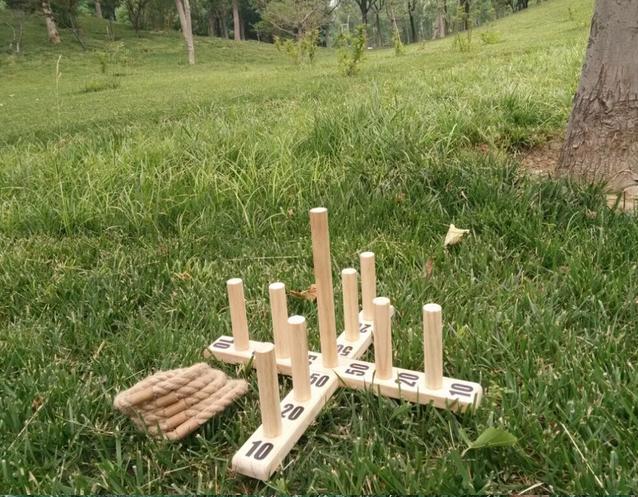 De Madera De Cricket Para Los Niños Y Adultos Juego De Jardín Con ...