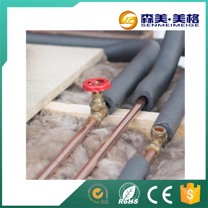 China supplier what is the best spray silicone foam pipe insulation for copper pipe