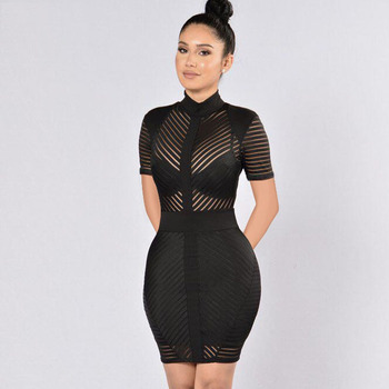 Sexy Office Wear With Sleeve Plus Size Formal Bodycon Career Dresses For Women