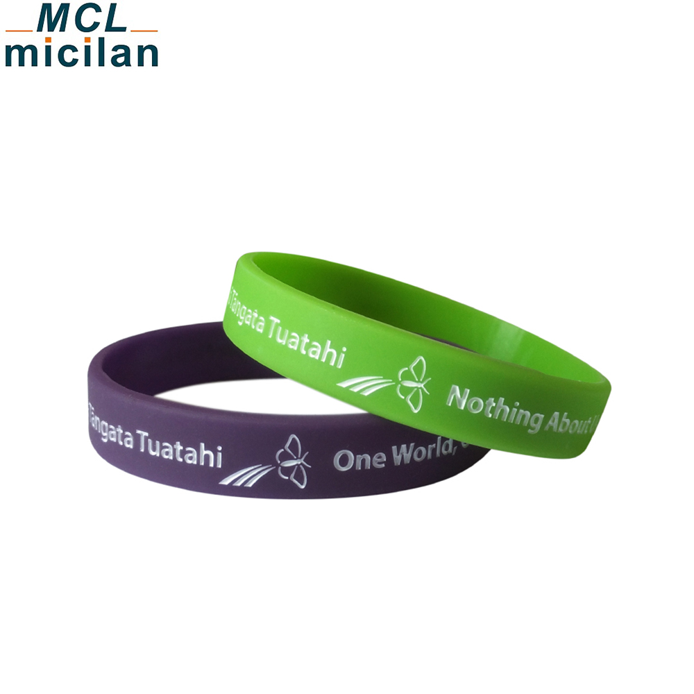 Best selling cheap personalised bracelets debossed wristband custom silicone slap bracelet