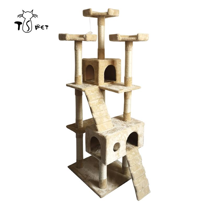 China pet fornecimentos árvore do gato de luxo com dispositivo de escalada