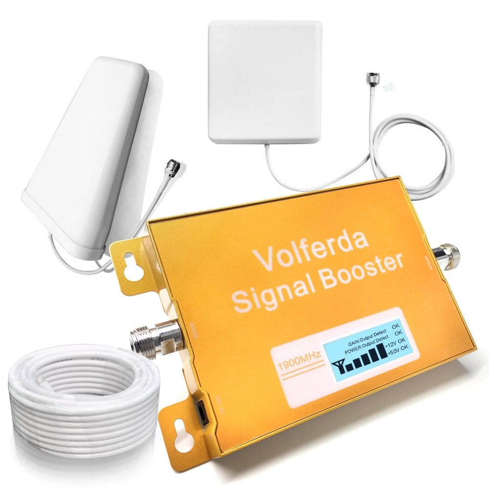 48fc656aae9586 Get Quotations · Volferda Cell Phone Signal Booster 1900MHz Band 2 Single  Band Mobile Repeater For 2G/3G