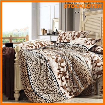 150606l Cheap Stock Flannel Quilt Set Duvet Cover Set Liquidation