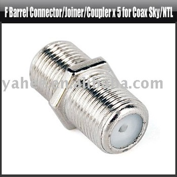 F Barrel Connector/Joiner/Coupler x 5 for Coax Sky/NTL,YAC200A