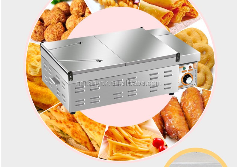 220V 50HZ 18L Electric Heating Oil Frying Pan Open Chicken French Fries Fryer