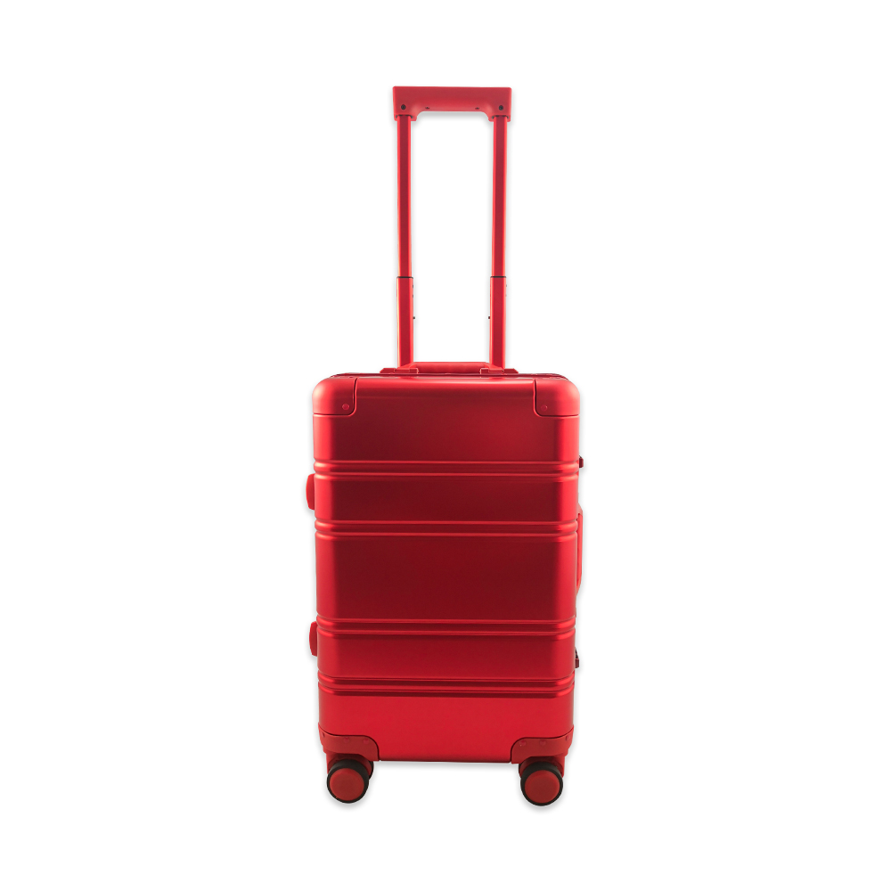 Branded Custom Printing Aluminum Trolley Suitcase