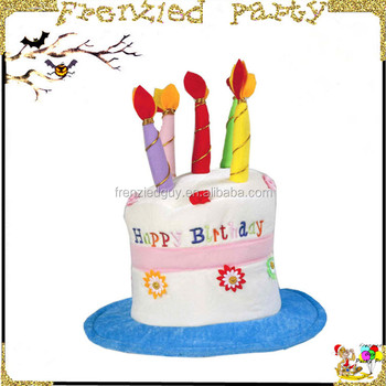 Children Favor Birthday Party Hat Happy Cake Shaped