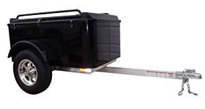 Hybrid Trailer Co. Vacationer - Enclosed Cargo Trailer, 990 lbs. Gross, 30 cu/ft. - Biker Black
