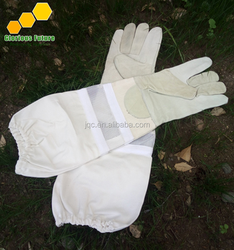 Hot Sale Beekeeper Protective Gloves Top Quality Long Net Ventilated Beekeeping Gloves