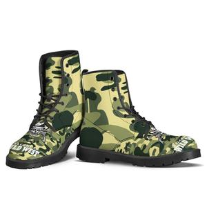Custom Skull Shoes 3D Printed Men and Women Skull Art in Martin Boots Military Dropship Boots