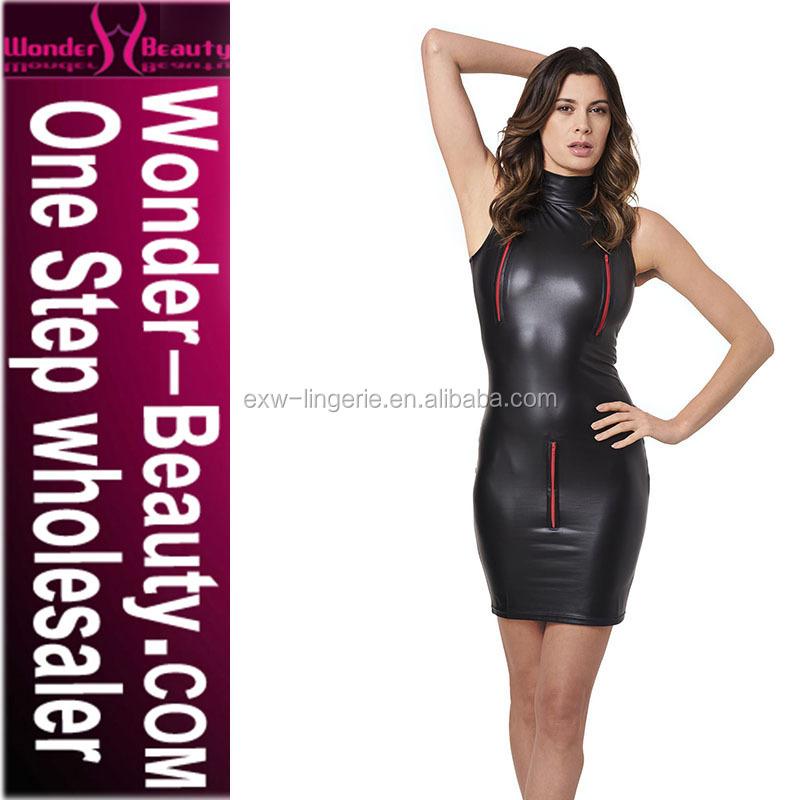 2422c4118 Preto Gola Alta Vestido Bodycon Sexy Vestido Midi com zíper vermelho preto