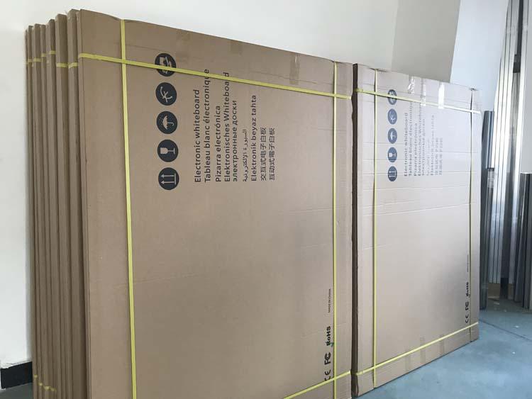 Aluminium paduan bingkai multi touch interaktif papan tulis menulis papan listrik untuk kelas sebagai perlengkapan sekolah
