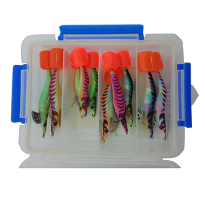 Fishing Lure Box 10 Squid Jig Pack for Squid fishing