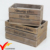 Home Garden Stacking Solid Vintage French Wooden Fruit Crates for Sale