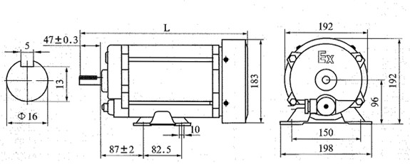 WDMSB Explosion Proof Motor/gas station equipment/Fuel Dispenser Parts