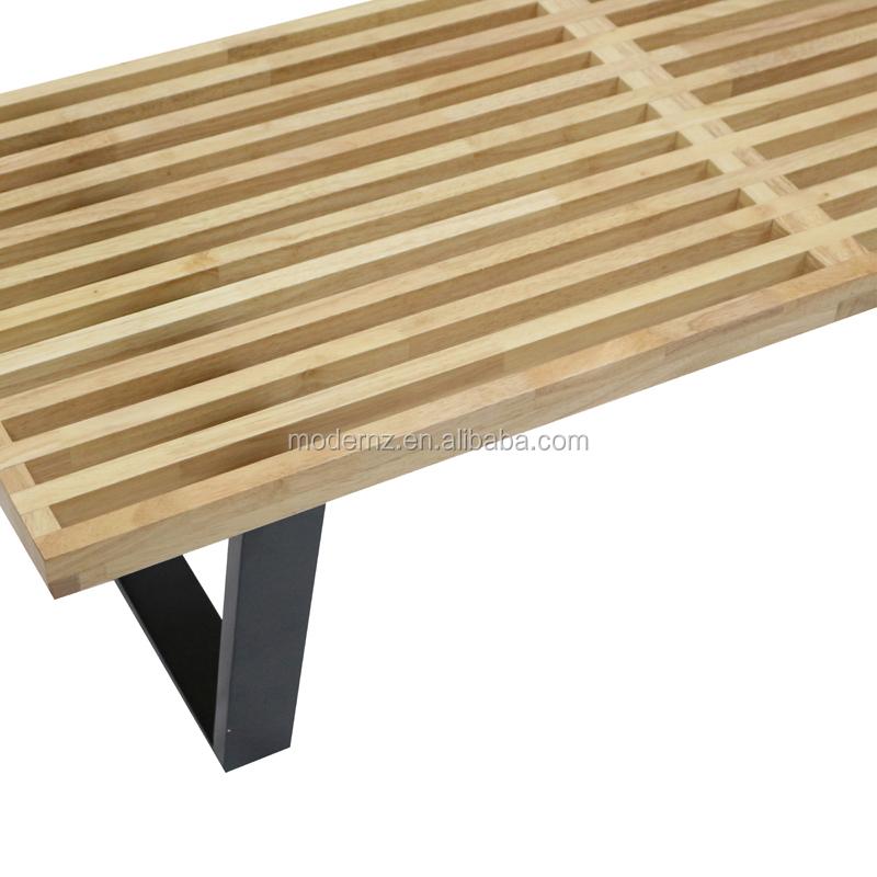 Modern Bed End Leisure Solid Wood Platform Long Bench Seating