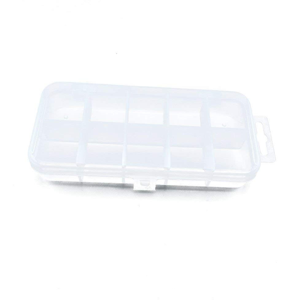 10 PCS Clear Beads Tackle Box Arts Crafts Tackle Storage Plastic Boxes Organizers Containers Case XX009