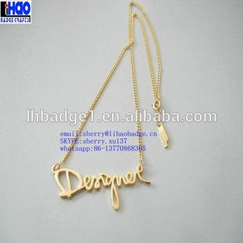 6a700d4873 letter pendant gold simple chain necklace,gold letters of an alphabet  necklace