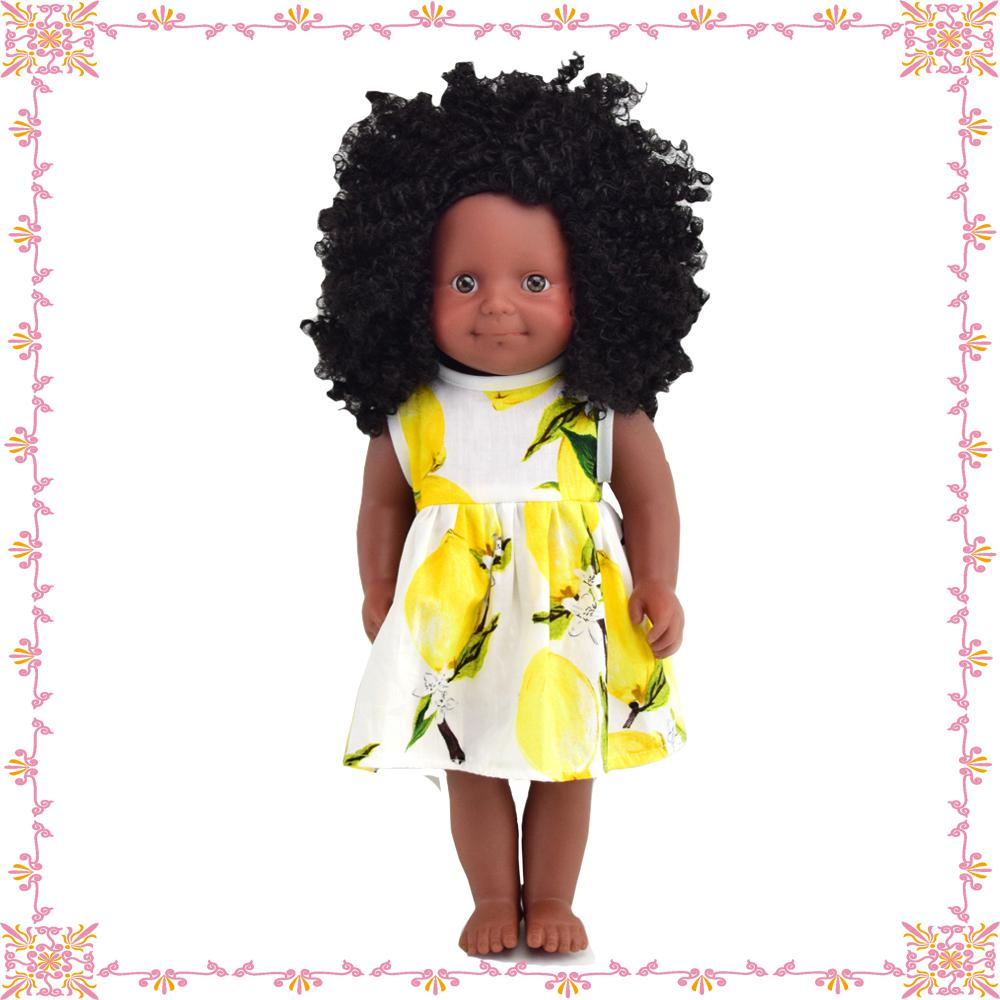 wholesale custom plastic non-toxic cute fashion american african girl black <strong>doll</strong> for kids