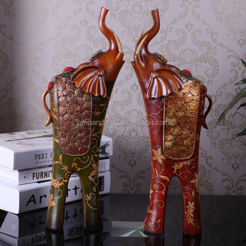 Mexico Resin Handmade Big Lucky Elephant Statue Wholesale Rustic