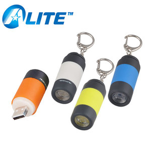 USB Rechargeable LED Light Keychain Waterproof Mini Pocket Torch