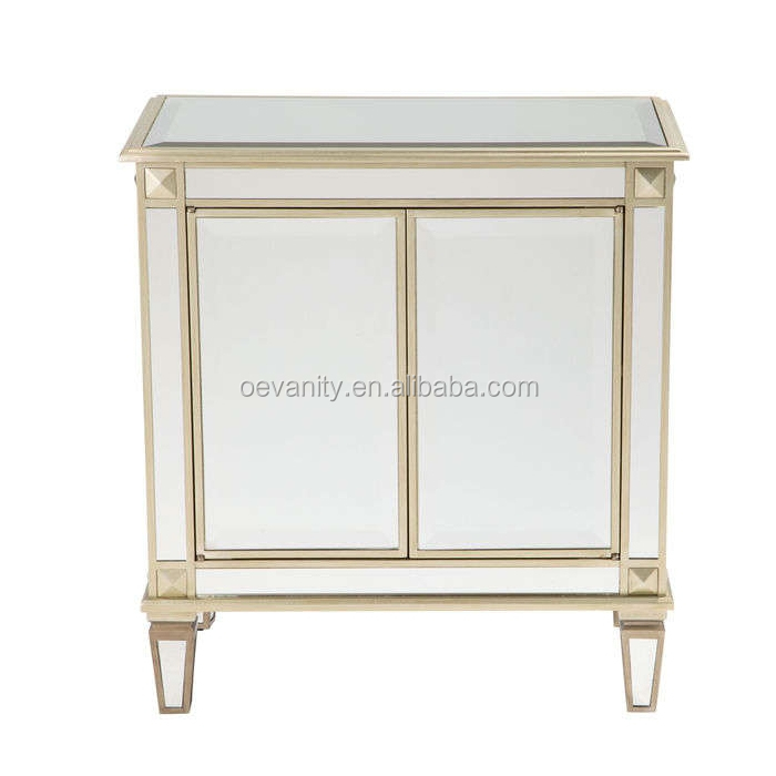 Makeup Cosmetic Modern Shoes Cabinet Dresser With Mirror Five Drawers