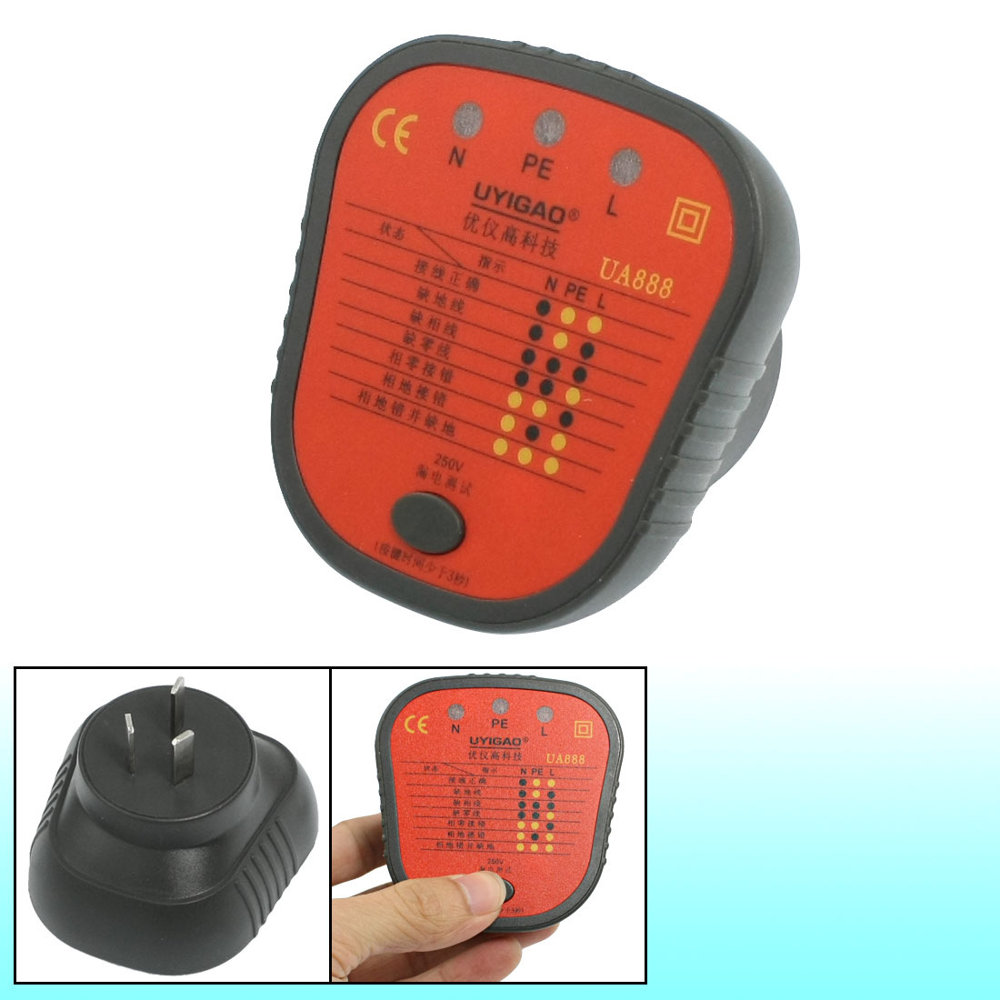 Cheap 3 Wire 220v Plug Find Deals On Line At Wiring A Receptacle Get Quotations Connection Check Socket Safety Tester Au