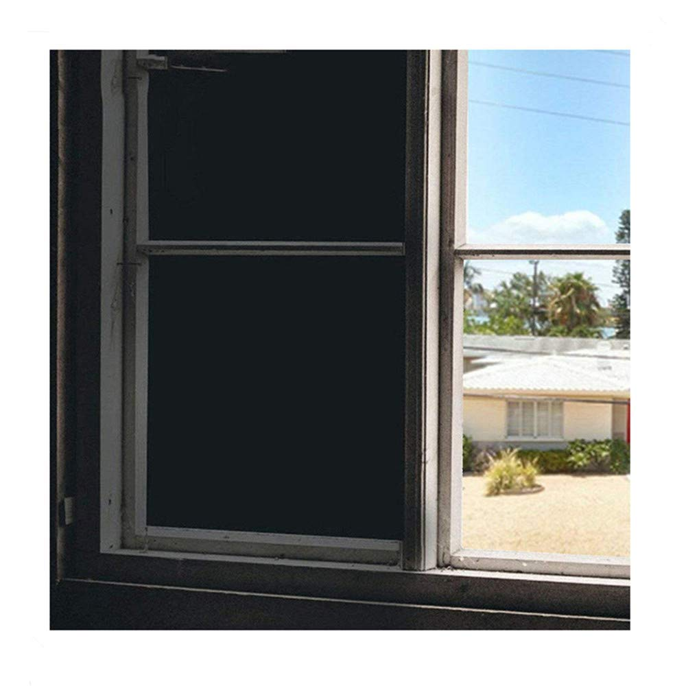 Get Quotations Soqool Static Cling Blackout Window Film 100 Light Blocking Tint Room Darkening