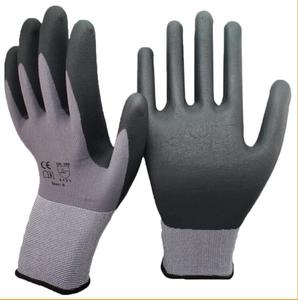 High Quality 15 Gauge Nylon Shell Nitrile Micro Foam Palm Coated Gloves