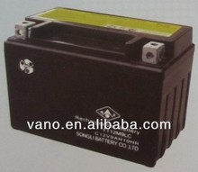 YT12M9LC 12V 9AH motorcycle battery