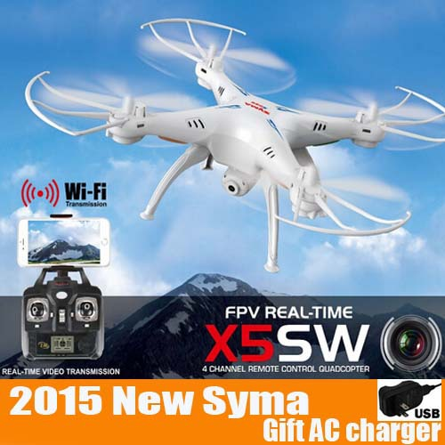More Battery SYMA X5SW FPV With 2 MP Camera WIFI RC Drone FPV Quadcopter 2.4G