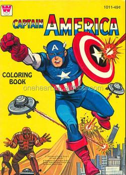 2014 Yeni Tasarım Kaptan Amerika Karikatür Boyama Kitabı Buy