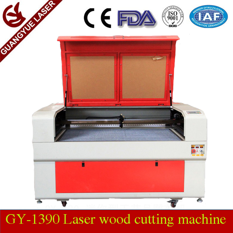 CO2 130W Laser Wood Cutting Machine Price For MDF/Balsa/Veneer/Double Color Plate/Laminated Board 1300*900mm