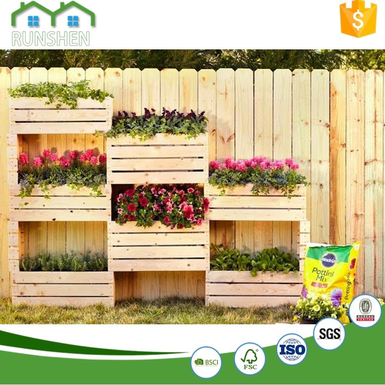 Building Planter Boxes Wooden Flower Pots Trough Planters