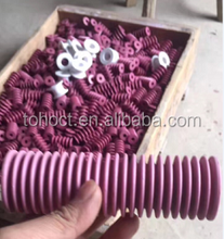 Threaded ceramic tubes rods pipes pins