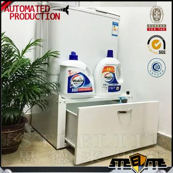 White Washing Machine Base Storage Laundry Pedestal With Storage