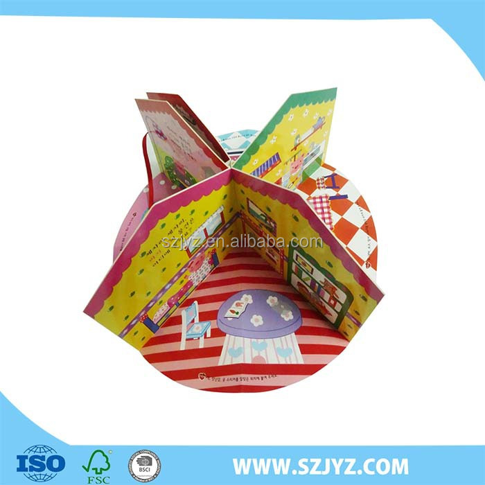 China supplier sport mini kids create your own pop up books