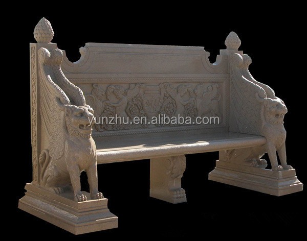Outdoor Natural Stone carving Benches For Garden Use