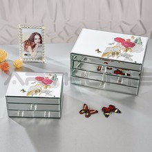 Hot Selling Good Looking Fashion Home Decoration Crystal Glass Jewelry Box