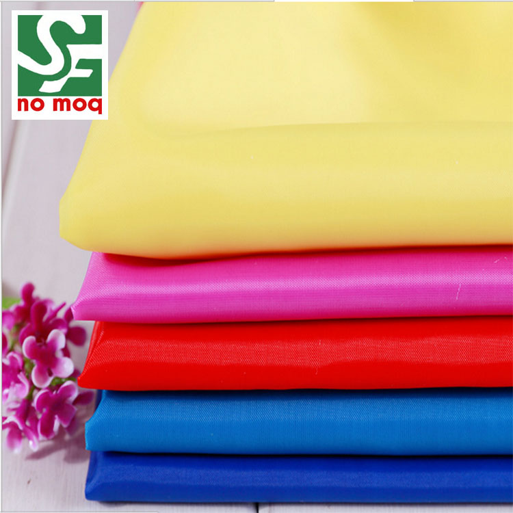 Customized color 190t tent fabric lining polyester taffeta fabric