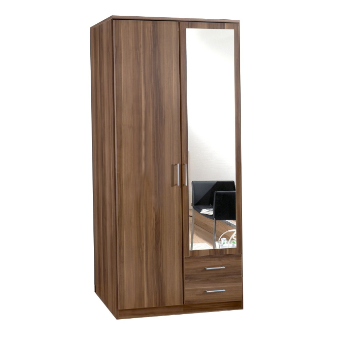 Simple Corner Armoire Wardrobe With Mirror - Buy Armoire ...