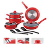 2015new one 13pcs alu press cookware set with 3pcs nylon tools