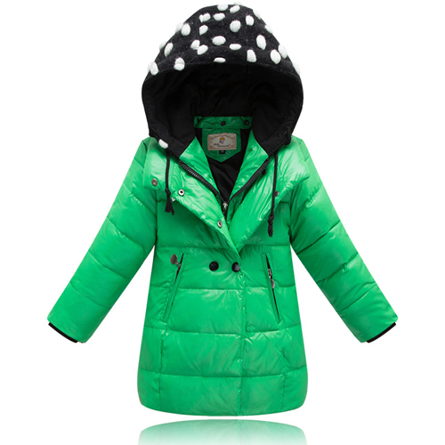 2e2efe17eb7e Get Quotations · 2015 Girls Duck Down Cartoon Hooded Jackets Coat Children  Cartoon Warm Coats Princess Girl Winter Outerwear