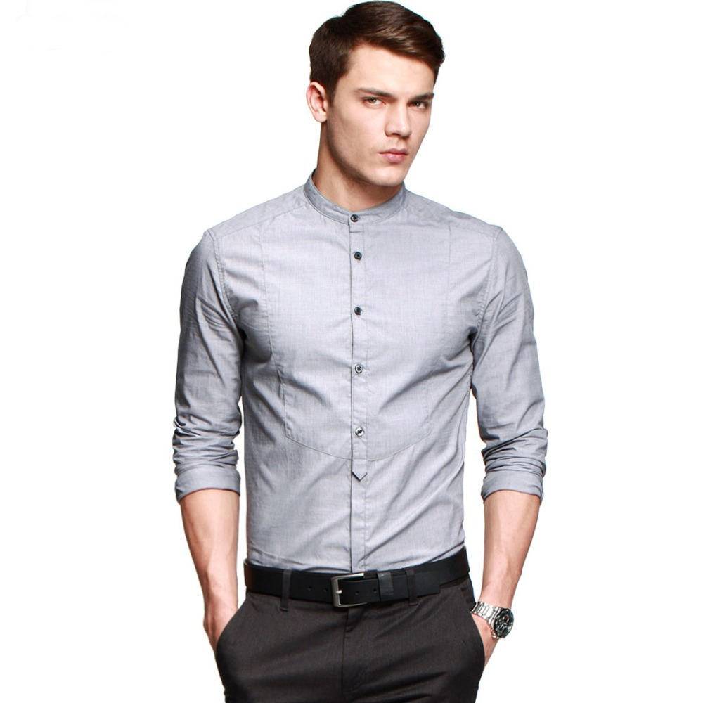 New arrivals for Mens Mandarin Collar Shirt Casual