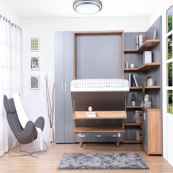 Murphy Bed With Desk One Set Hidden Wall Bed Buy Folding
