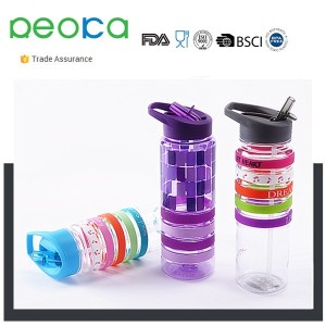 Ultra Lite Portable Water Filtration Bottle With Sport Flip Spout Top and Silicone Straw