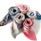 Cheap Custom Design Digital Print square lady 100% Silk Scarf With High Quality