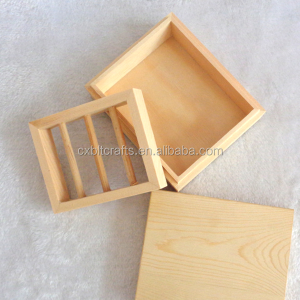 natural wooden soap packing box